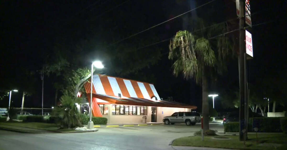 A suspect was taken into custody about 11:45 p.m. Wednesday, Oct. 5, 2016, after he led police on a chase following a robbery at a Whataburger restaurant on Long Point in northwest Houston. (Metro Video)