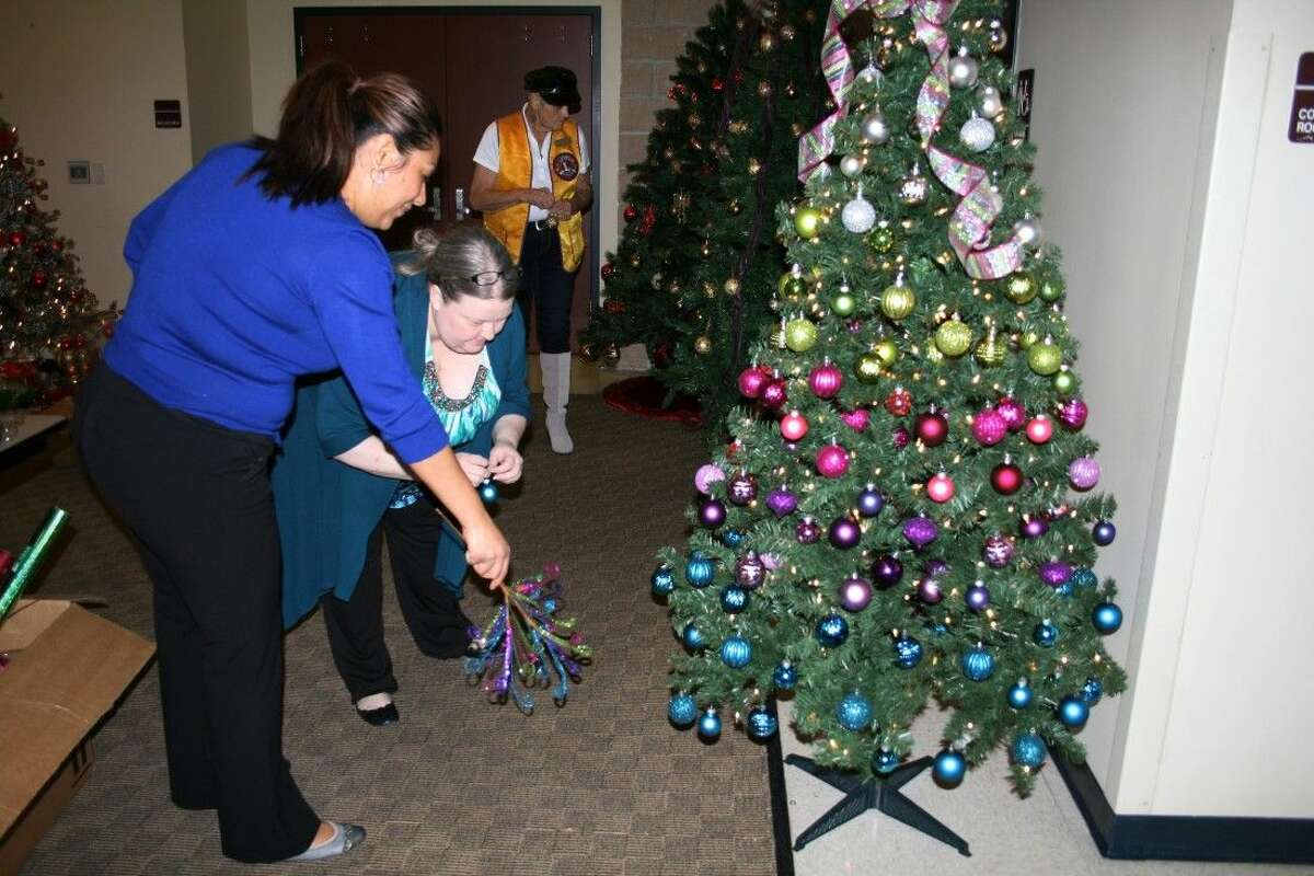 Last year, the Health Centers of Southeast Texas won first place in the Hometown Christmas tree contest. They are hoping for a repeat win with this uniquely decorated tree that uses brightly colored balls and ribbons.