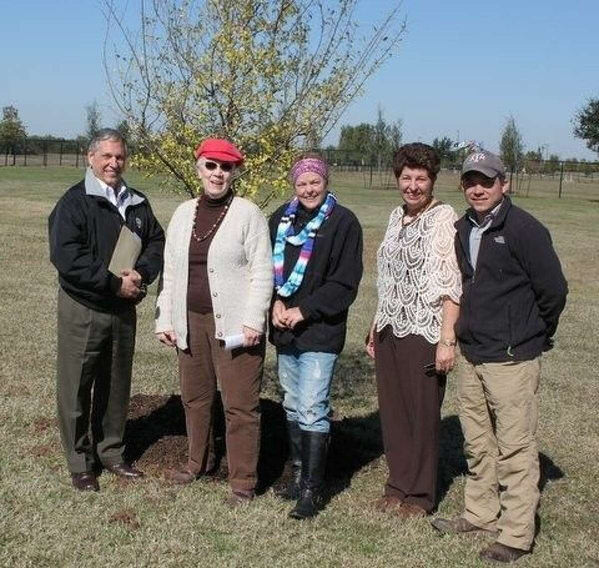 From left to right: Joe Chesser, Beverly Baumann, Lesley Durgin, Carrie Sample and William Hajdik.