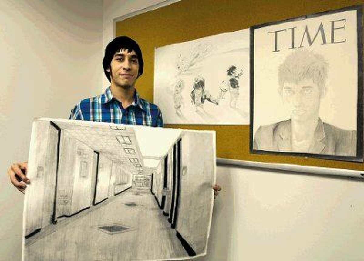 The Lake Houston Area Artists recently awarded Lone Star College-Kingwood student Luis Aleman a $300 scholarship as their choice for promising student of the arts in 2014.