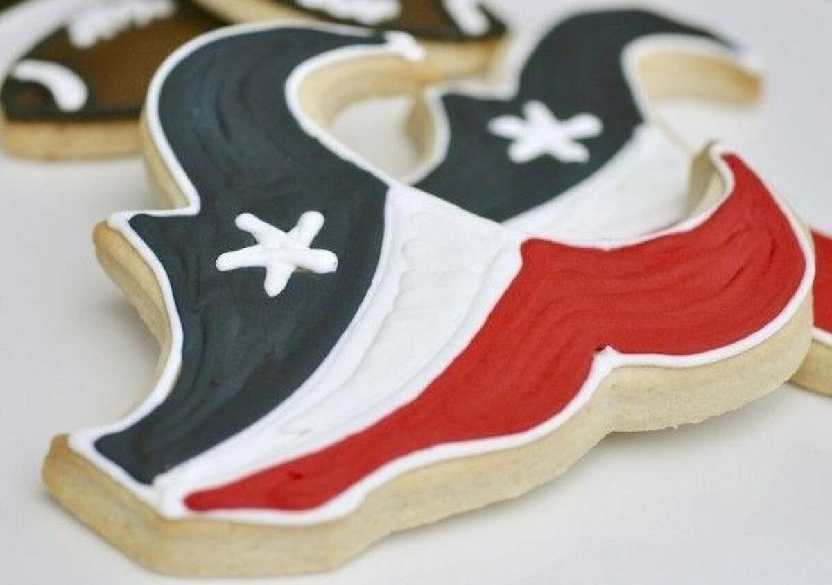 Score with Houston Texan fans with spirited sugar cookies from Ooh La La Dessert Boutique.