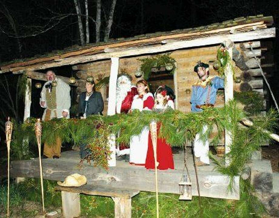 Commissioner R. Jack Cagle joined Christmas carolers at Jesse Jones Park's Old-Fashioned Christmas.