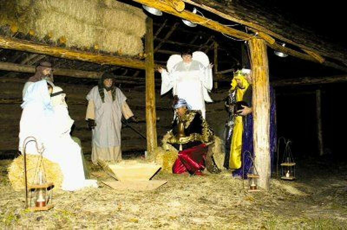 Live Nativity display during An Old-Fashioned Christmas at Jesse Jones Park in Precinct 4.