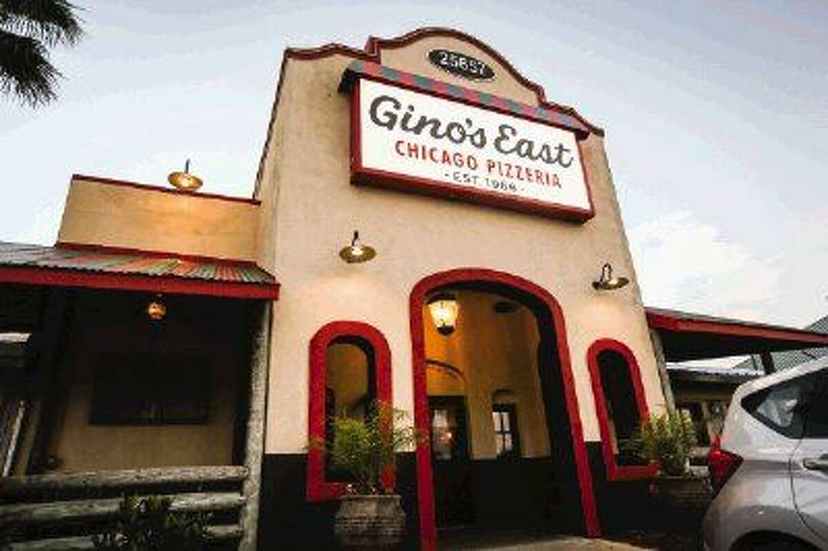 Photos of Gino's East of Chicago Pizzeria off of Interstate 45 North in The Woodlands.