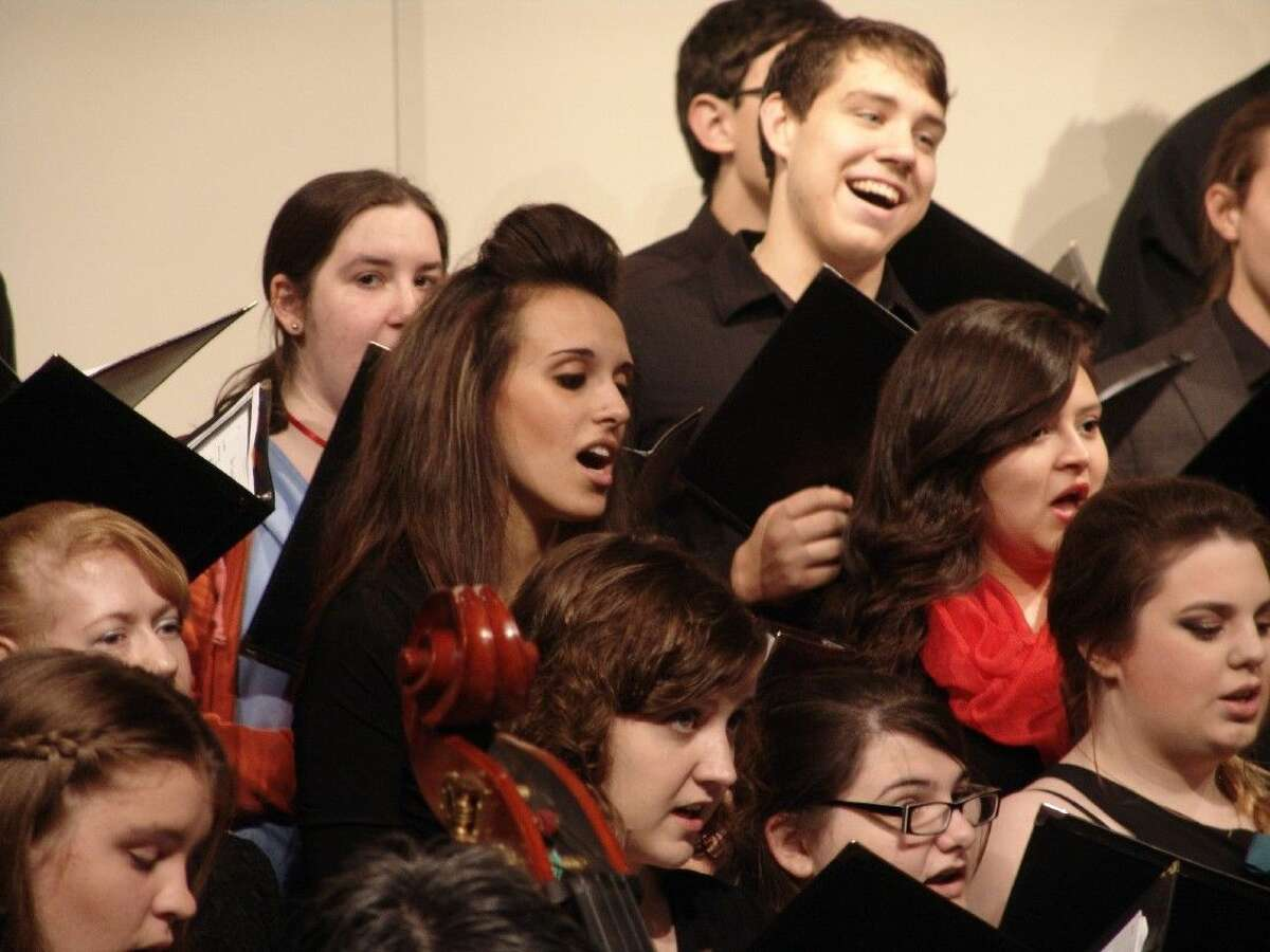 Members of the Lone Star College-Montgomery Concert Choir perform during the Holiday Benefit Concert, raising over $1,700 for Interfaith of The Woodlands.