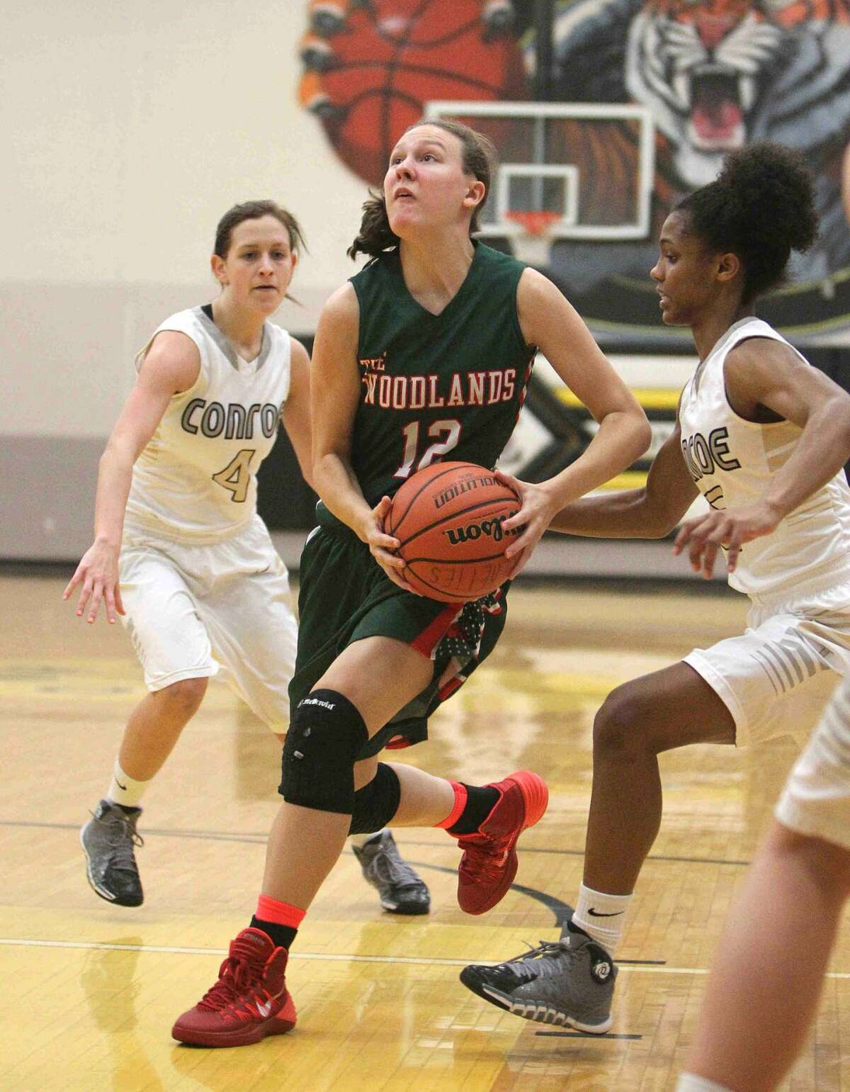 The Woodlands guard Amber Terry (12) has been one of the early standouts for the Lady Highlanders so far.