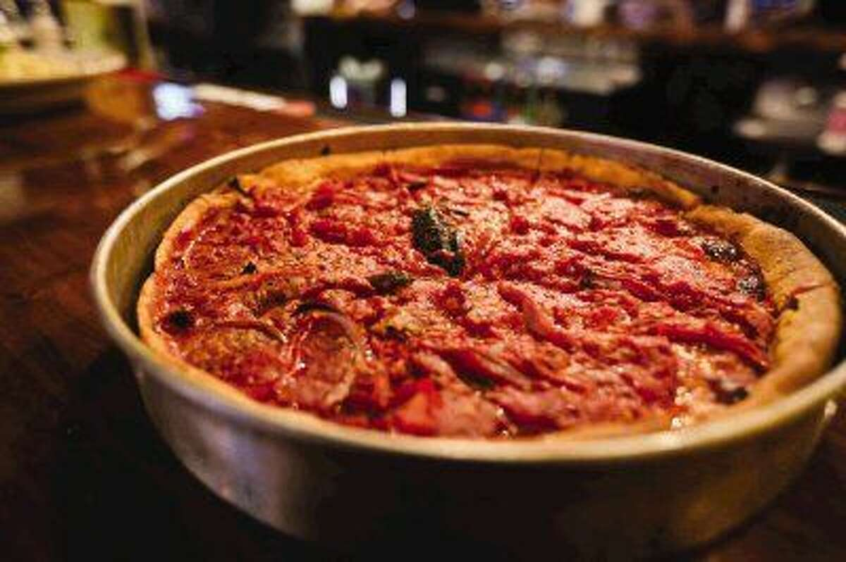 The Chicago Fire pizza at Gino's East. The restaurant opens today.