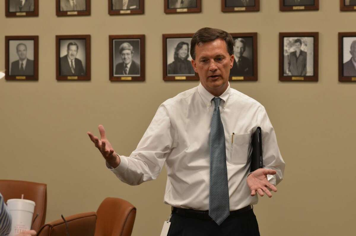 Bellaire City Manager Paul Hofmann explains the in's and out's of the city's municipal buildings.