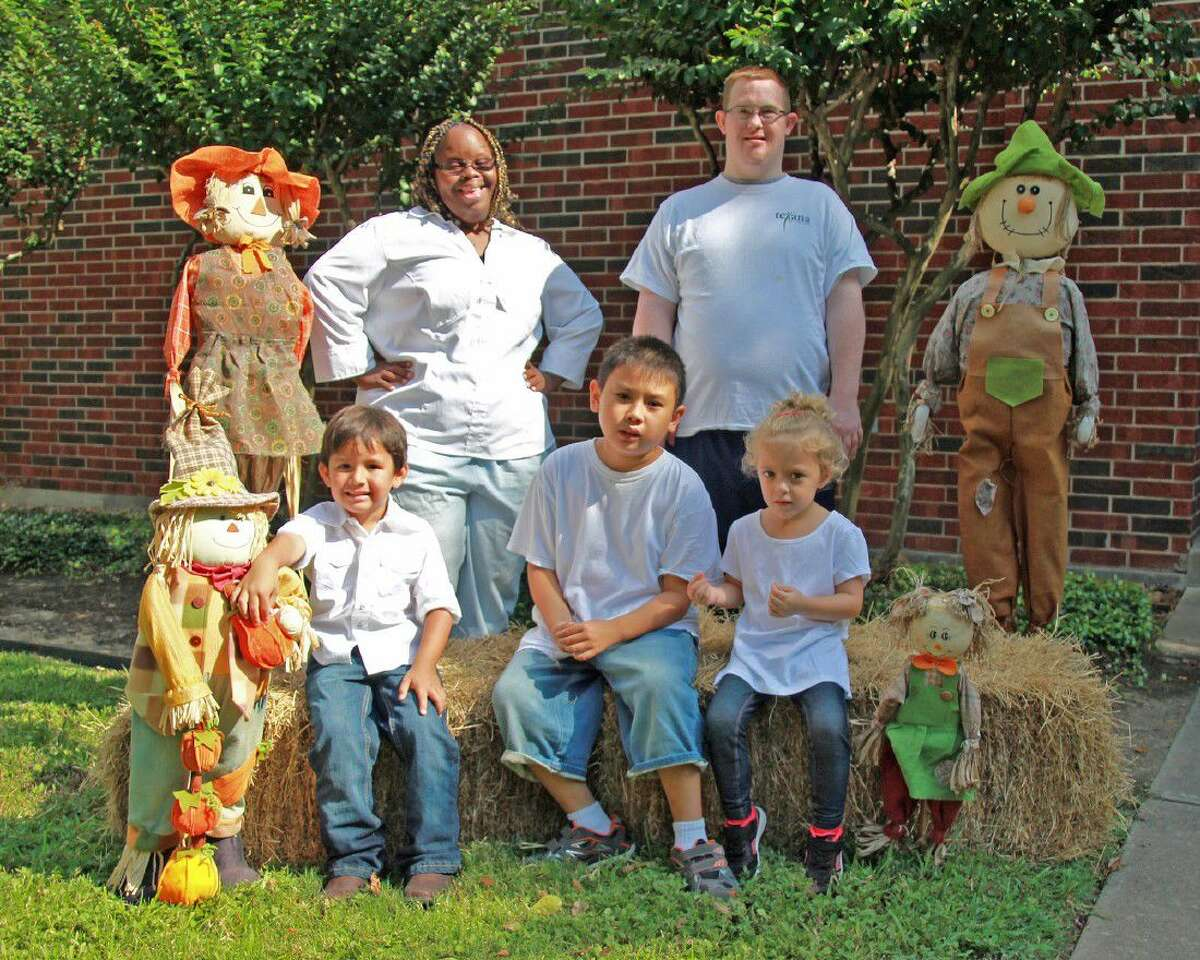 Proceeds from this year's Fulshear Scarecrow Festival will support Rosenberg non-profit Texana Center, which is bringing services for adults with autism and intellectual disabilities to Fulshear. Shown are several Texana Center clients dressed for the occasion.