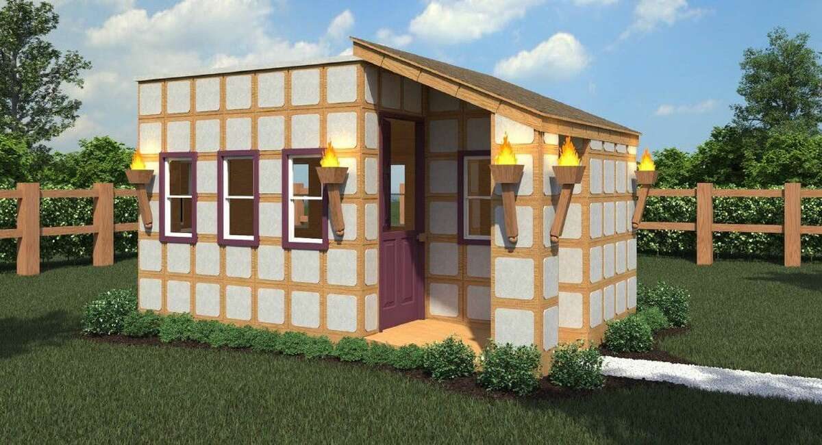 A rendering of the Pixel Playhouse. The raffle raised $80,000 for HomeAid Houston, non-profit charity of the Greater Houston Builders Association (GHBA).
