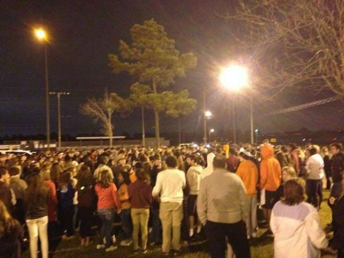 The community came together for a vigil at Cinco Ranch High School Sunday night.