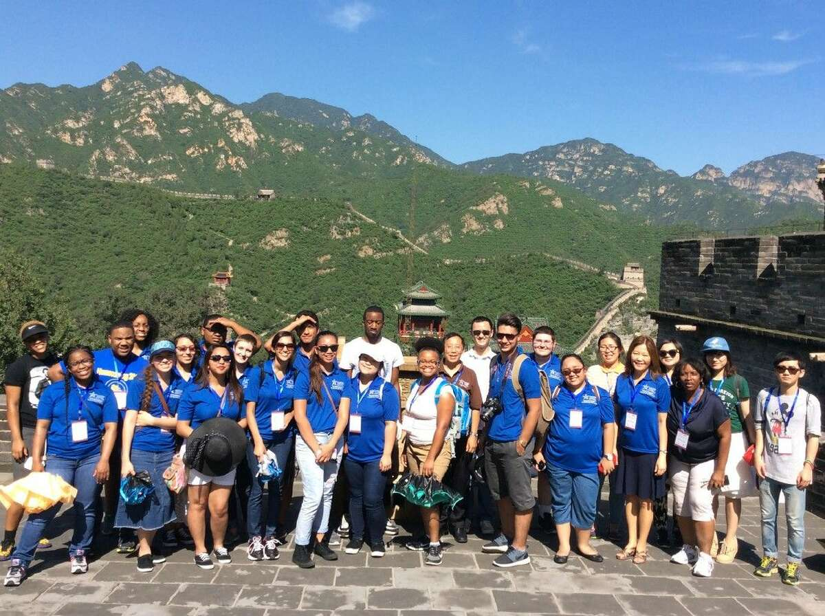 The Honors College at Lone Star College can open a world of learning opportunities for high achieving students. Pictured is a group of LSC honors students who recently visited China as part of the China-U.S. Exchange Foundation.
