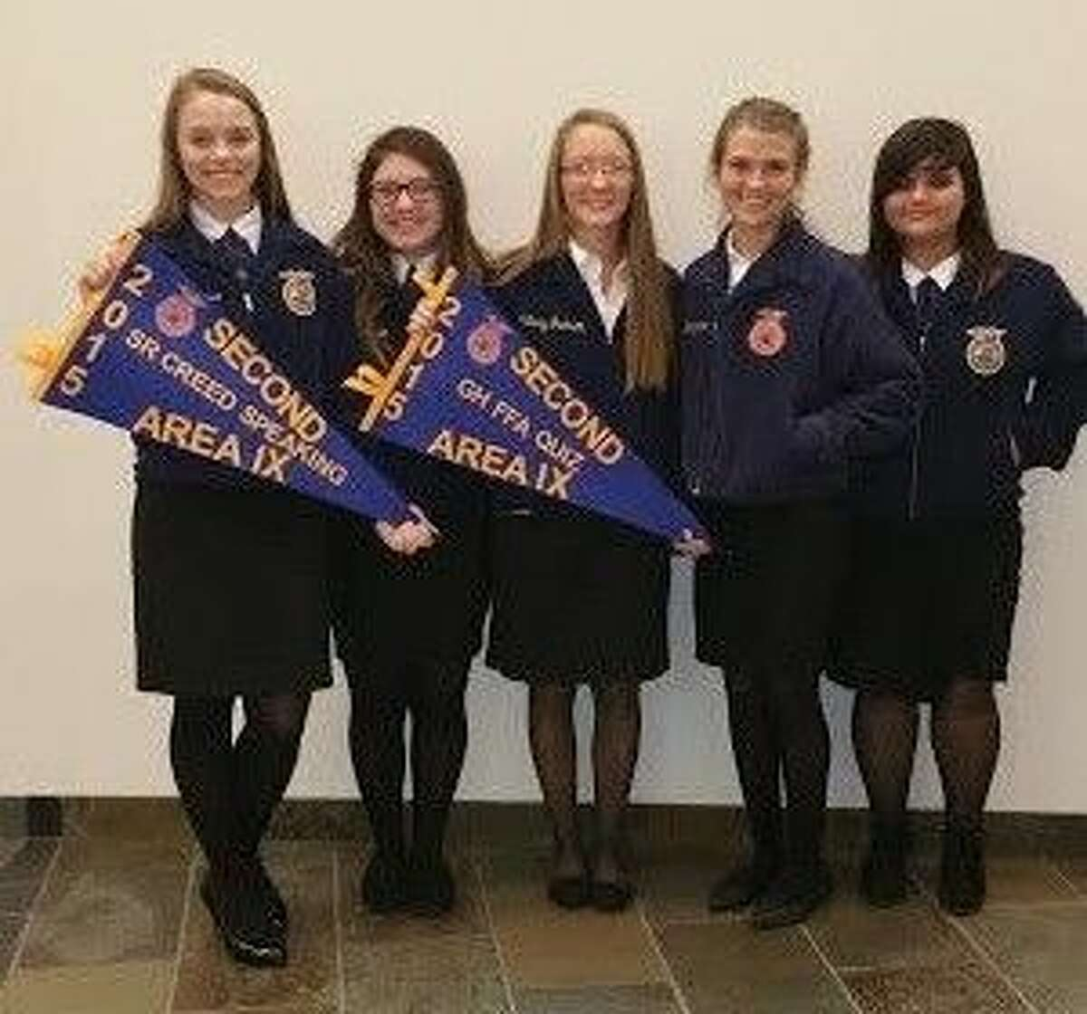 Tarkington FFA students competed in the Area IX LDE contest on Nov. 10. Some of the students will now advance to the State contest on Dec. 4-5. Pictured left to right are Cheyenne Gamangasso, Adicin Morgan, Miranda Godkins and Caitlyn Stutts.