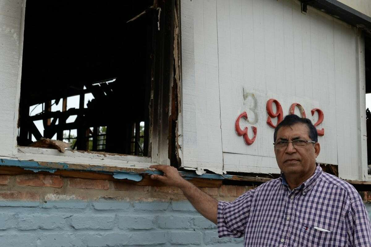 Anwar Ahmed, owner of Space City Hardware, plans to rebuild his store, which has become a staple in the El Lago community.
