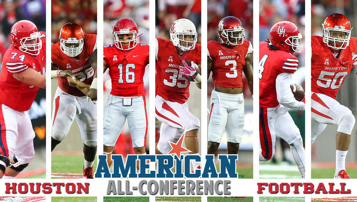 Seven players from the Houston Football program were named to the American Athletic Conference All-Conference teams the league announced Wednesday.