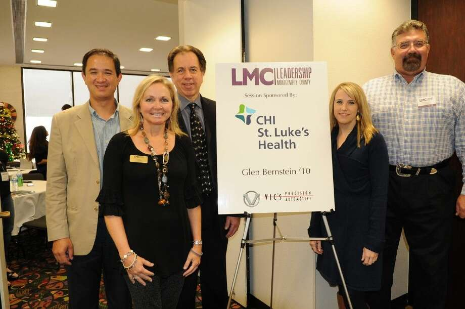 Pictured are John Nguyen of CHI St. Luke's Health - The Woodlands Hospital, LMC Board Member Diane Freeman of CHI St. Luke's Health - Lakeside Hospital, LMC Board Member Vic Tarasik of Vic's Precision Automotive, LMC Executive Director Sarah Rhea and Glen Bernstein.