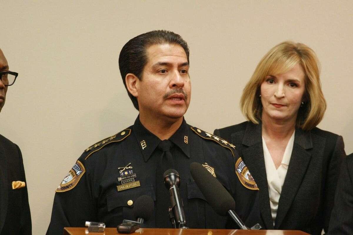 Harris County Sheriff Adrian Garcia speaks about body cameras on Dec. 12, 2014.