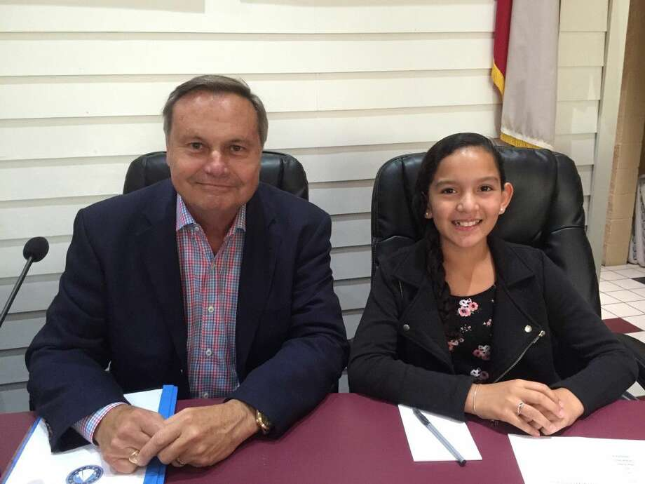 """Students at Stewart Elementary competed in the """"Mayor for a Day"""" contest. The prize winning entry was given the opportunity to meet Mayor Joiner and join the staff for a normal day of conducting the business of the City."""