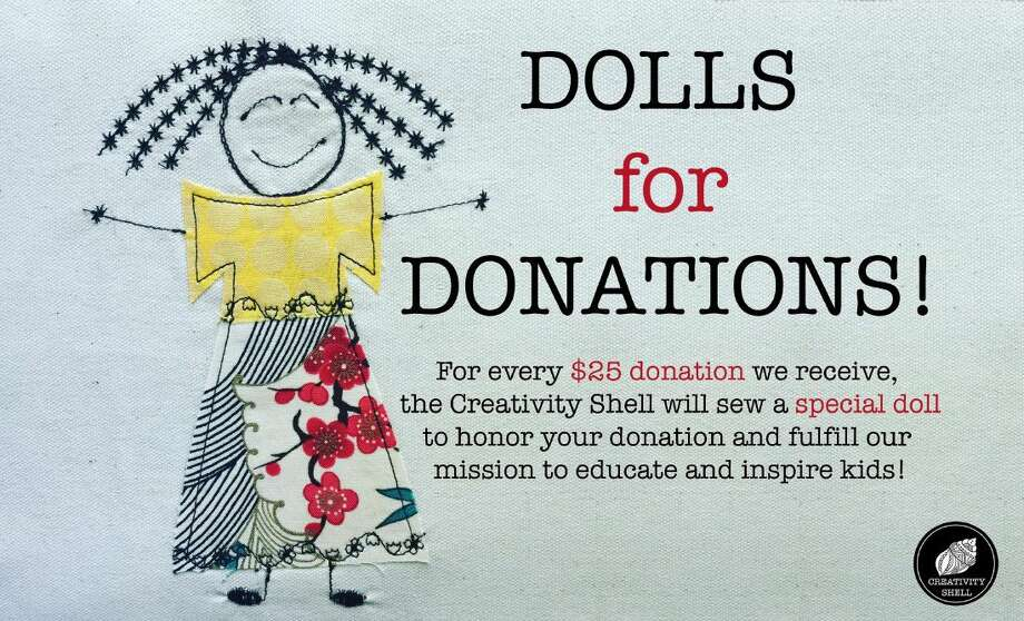 The nonprofit organization, the Creativity Shell, is making dolls from donations.