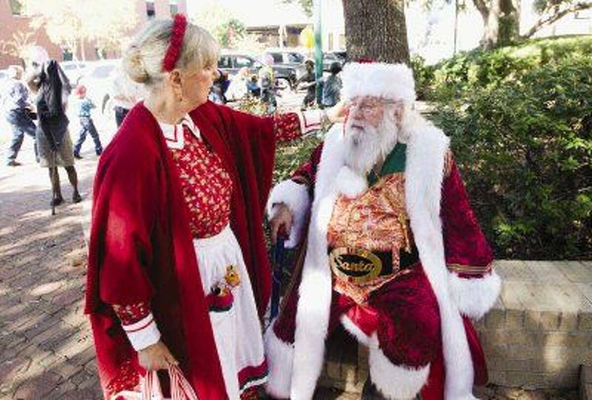 Real Santa Jim Fletcher and his wife Madge, also known as Mrs. Claus, participate in many events around the Houston area including Adoption Day event in Conroe in November.