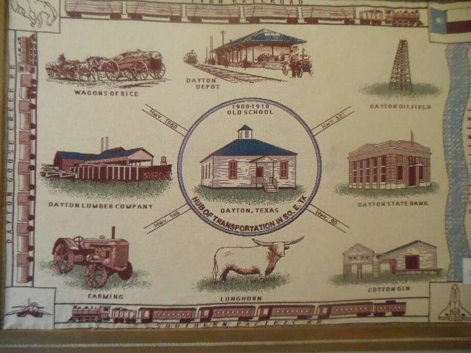 This $50 throw features landmarks and industries relating to Dayton's history.