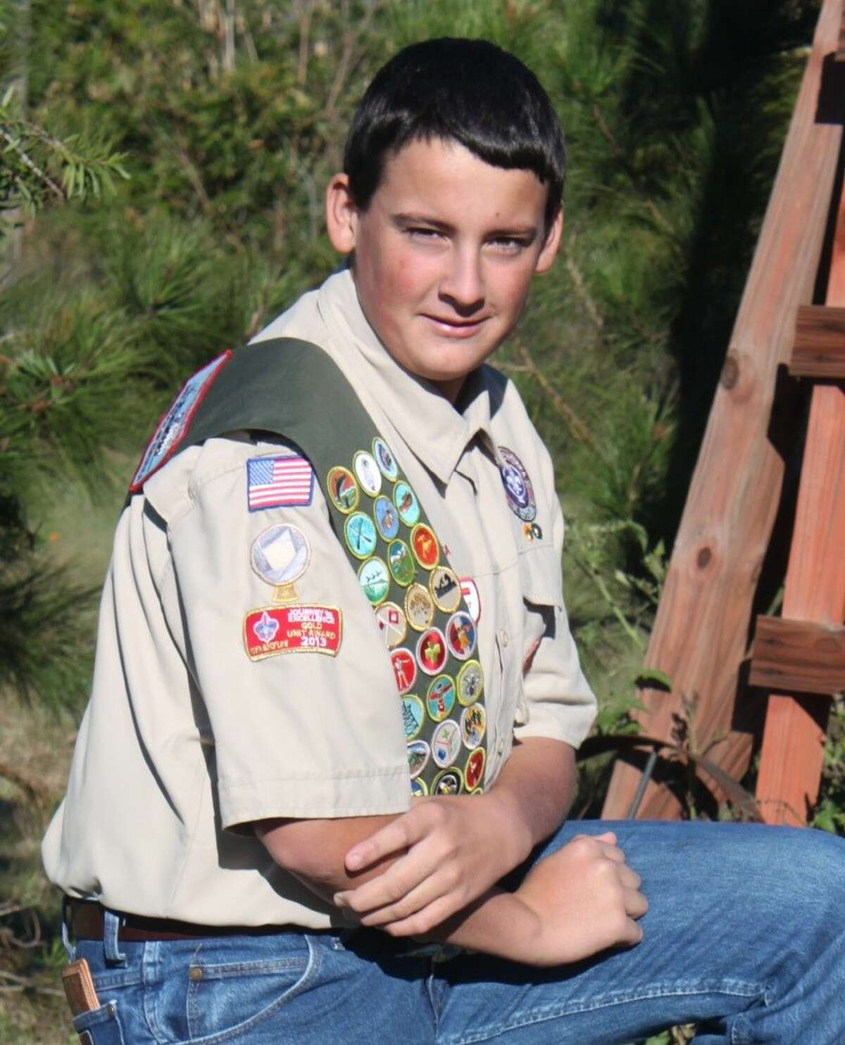 Wyatt McKeever, a sophomore at Waller High School, earned the Eagle Scout Award.
