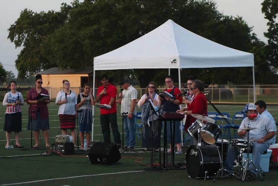 A group from the Hardin United Pentecostal Church entertained at the Hardin VFD's Fourth of July celebration on Monday, July 4, at Hardin ISD's football field. Photo: Casey Stinnett