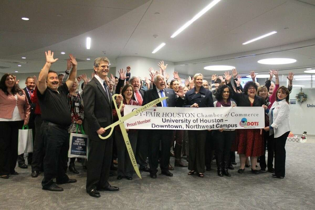 Cy-Fair Chamber of Commerce cut ribbon on the new facility for UHD-Northwest.