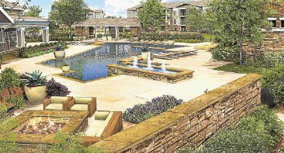 Kingsland Apartments will be opening in 2016 north of the intersection of Kingsland Boulevard and Katy Gap Road. Among on-site amenities will be a luxury-style pool, sun deck and more.