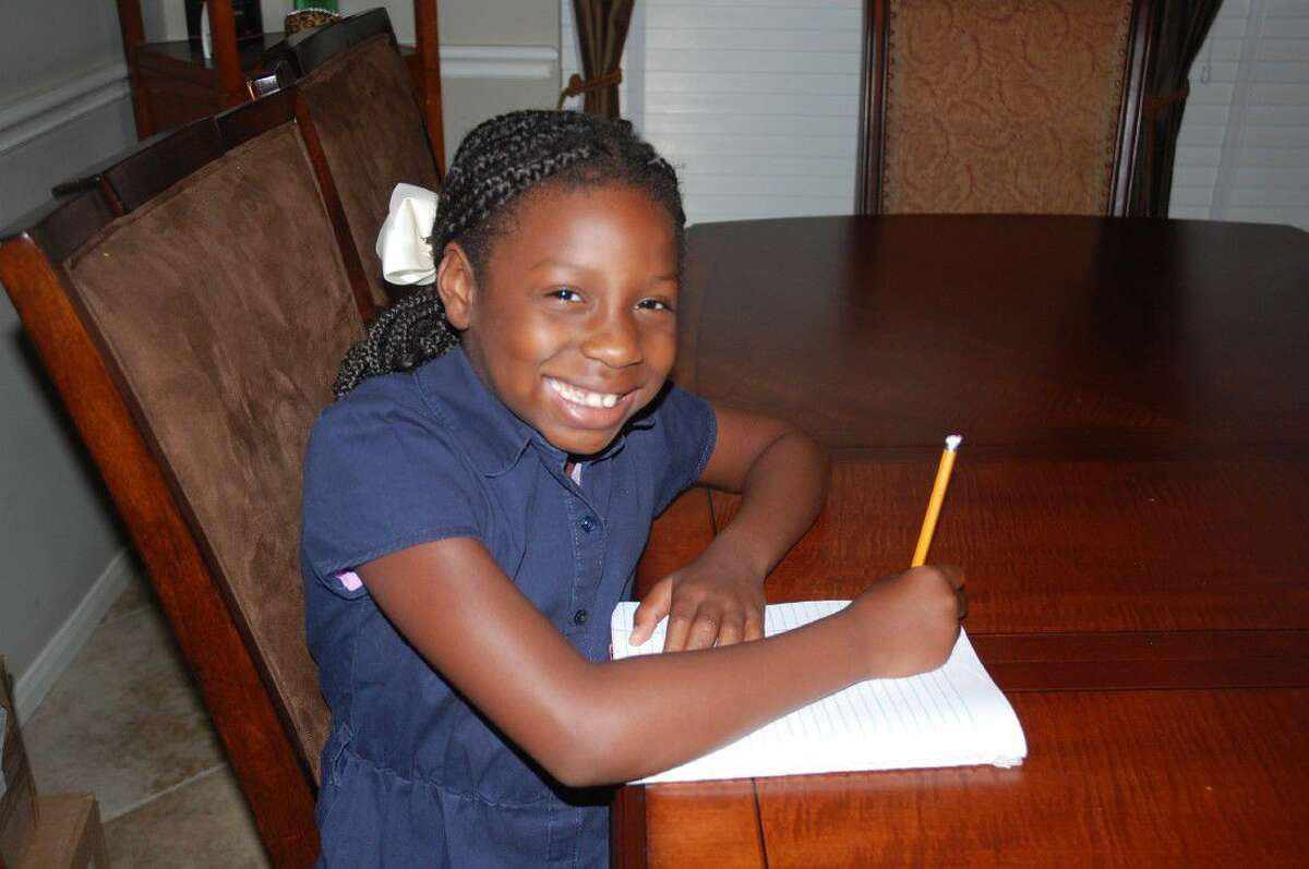 Seven-year-old Jayden Sherrard is a Kingwood area resident and recently became a published poet when she was chosen as one of a select group of young writers to be featured in a children's anthology.