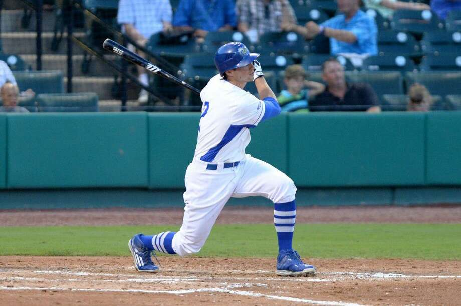 Former Klein Collins and Rice student-athlete Ricky Hague is in his first season with the Sugar Land Skeeters, ranking fifth in the Atlantic League in home runs, fourth in slugging percentage and second in extra-base hits. View additional photos at HCNPics.com. Photo: Craig Moseley