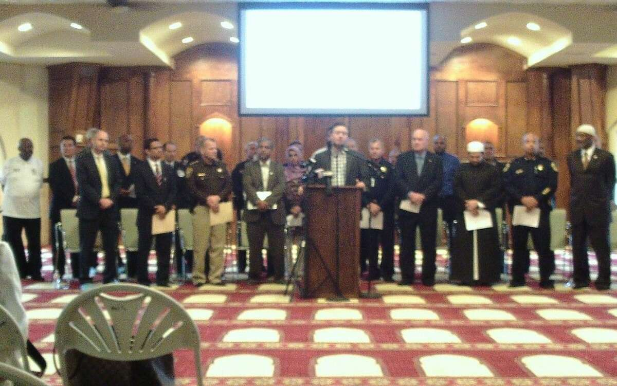 Fort Bend County officials, law enforcement, and Muslim leaders held a press conference Dec. 10 to address fears after recent terroristic attacks.