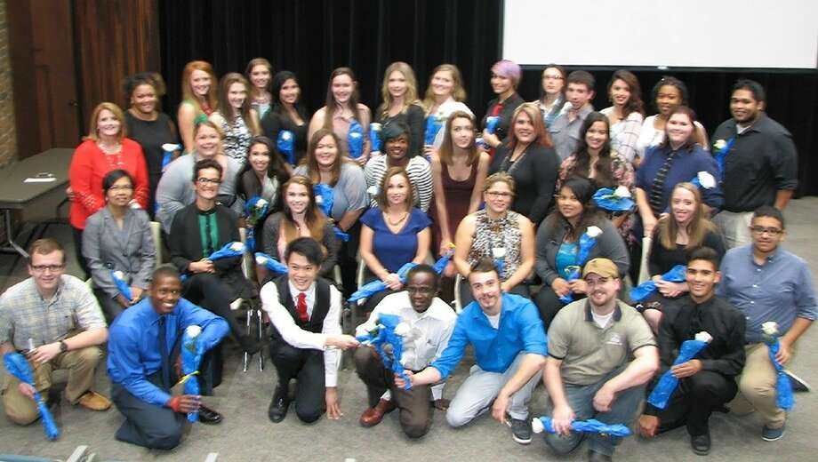 A total of 38 students were honored at the fall induction ceremony of the Phi Theta Kappa Honor Society at College of the Mainland. COM's chapter of Phi Theta Kappa is active in volunteering on campus and in the community.