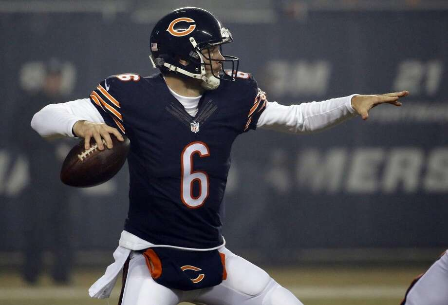 Chicago Bears quarterback Jay Cutler was benched by the team on Thursday.