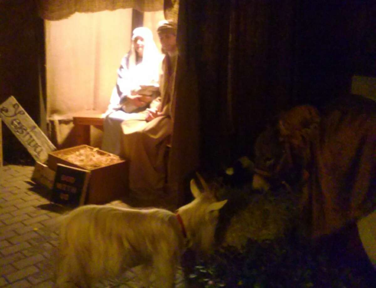 Journey to Bethlehem features a live nativity scene.