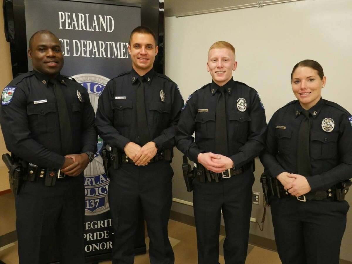 Officers Endy Ekpanya, Robert Layton, Zachary Passante and Alisha Dampier.