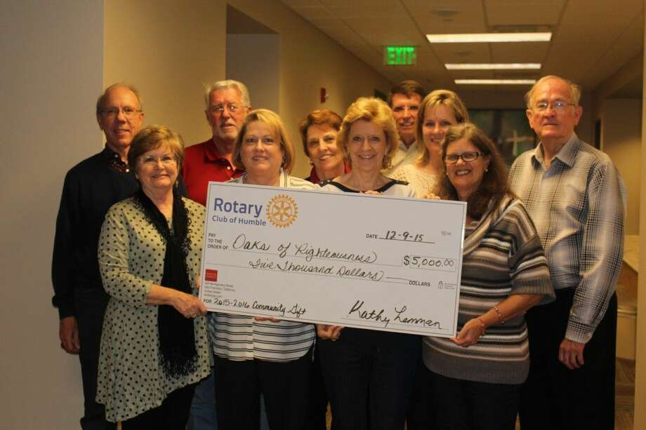From left, Ross Spiller (Board Chair), Beth Whittier (Founder), Ron Martin, Kathy Lemman (Rotarian), Carol Sloane, Bill Yarberry, Sharon Marks, Pam McNair (Rotarian) Cheryl Litherlan, Terry Amos and Ernest Hauser (Rotarian).