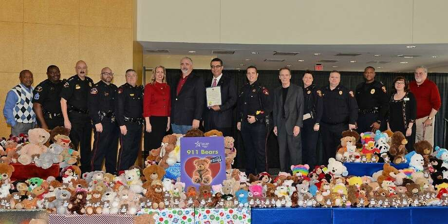 More than 1,100 new teddy bears were collected for local law enforcement through the 911 Bears project initiated by Lone Star College-University Park. Local law enforcement represented at the 911 Bears ceremony included: CFISD Police Department; Klein ISD Police Department; Harris County Precincts 4 and 5; and LSC Police Department.