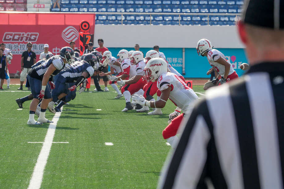USA Football squares off against the Japanese national team in the IFAF U19 World Cup in Harbin, China July 7, 2016. USA Football defeated Japan 50-20 to advance to the gold-medal game against Canada. Photo: C/o USA Football