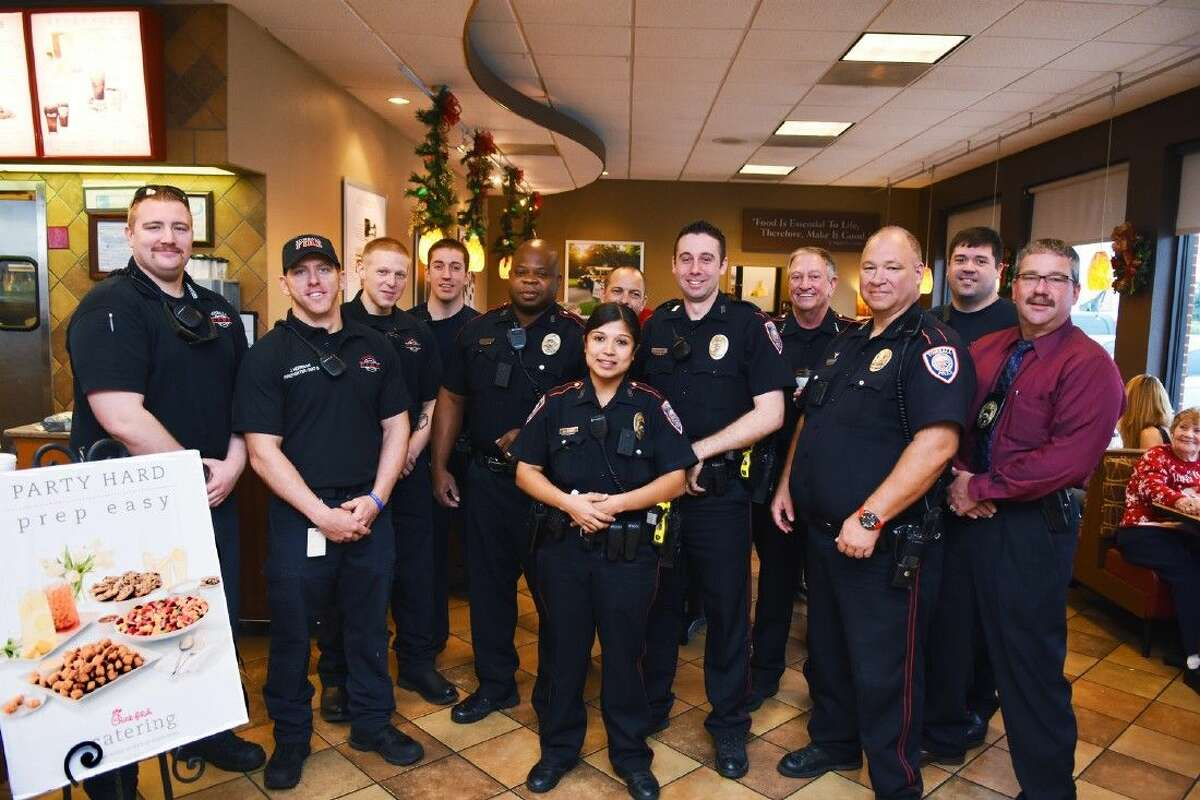Members of the Tomball Police Department met citizens in the community during the