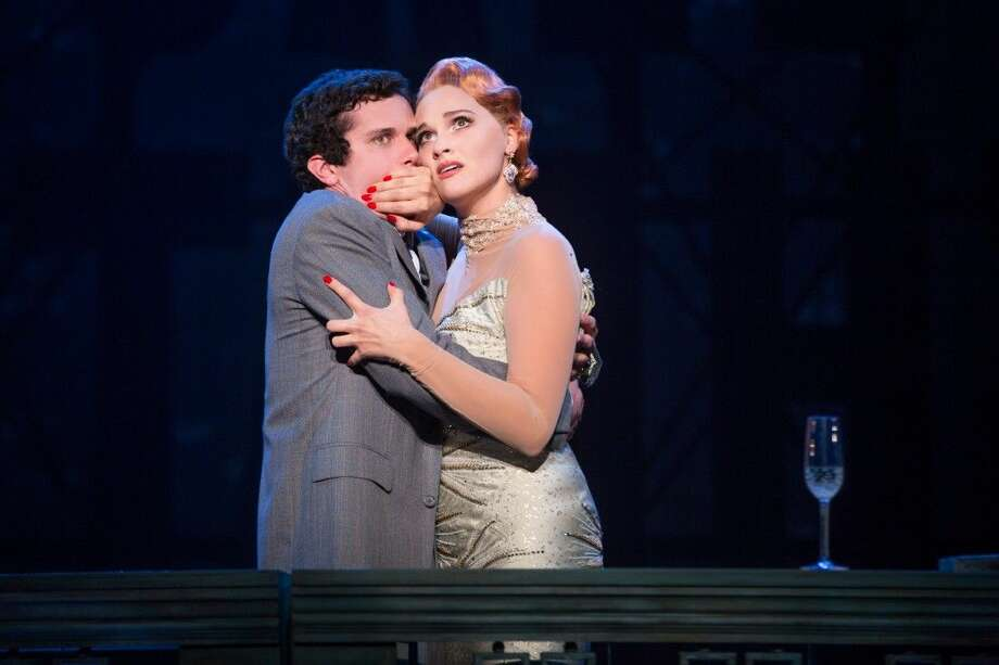 Klein Oak graduate Michael Williams stars as David Shayne in the North American tour of the hit musical comedy Bullets Over Broadway at The Hobby Center Dec. 27 through Jan. 2. He is pictured above with and Emma Stratton who plays Helen Sinclair in the play written by Woody Allen. Photo: Courtesy Photo