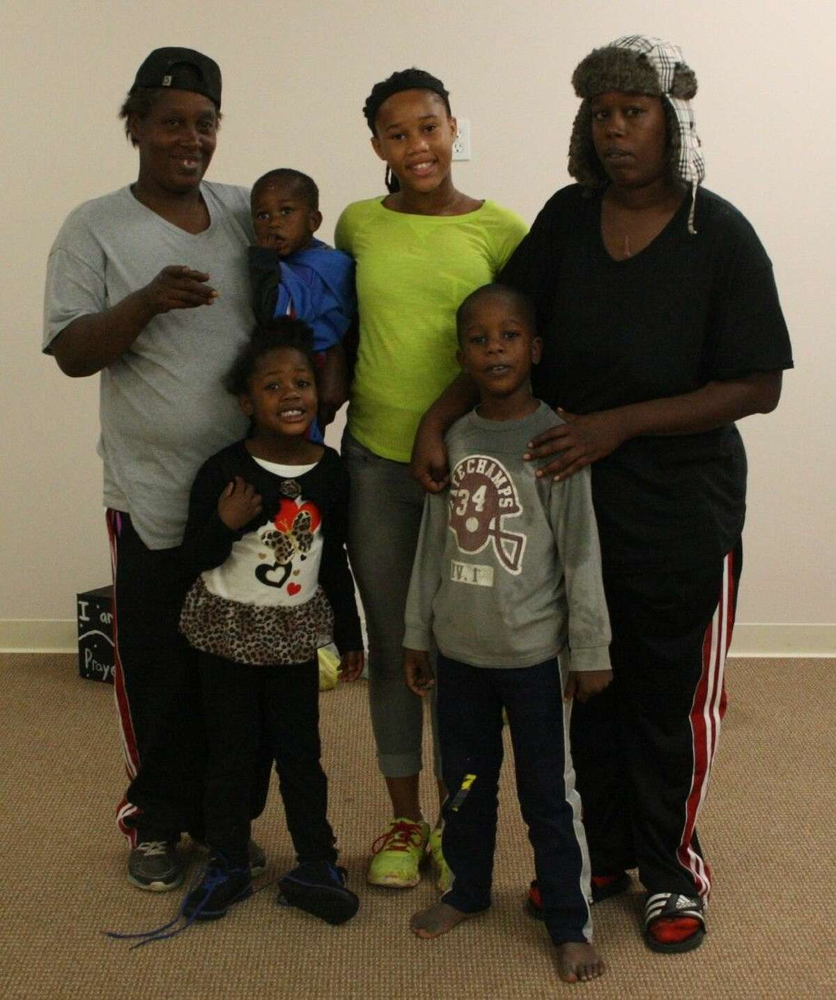 The Glaze family lost their home in Oakhurst on Dec. 17. They are currently in need of support and appreciate everyone who has helped them out so far. Pictured are grandmother Alice Glaze, Ja'Various Glaze, Ja'Kayda Glaze, mother Yolanda Glaze, Kelcy Glaze and Jaden Glaze.