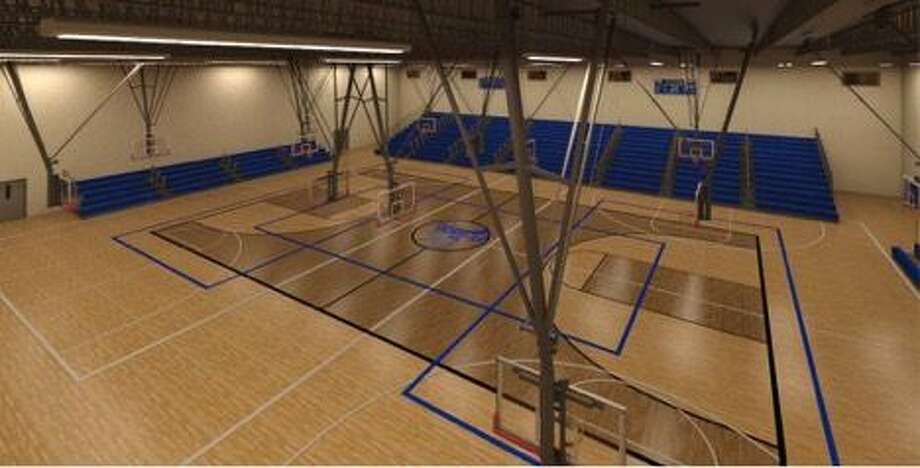 Frassati's 54,000 square-foot gymnasium/fine arts building features a 17,000 square-foot gym with two volleyball/basketball courts where games or practices can be held simultaneously, or can be utilized as a competition gym with seating for up to 1,000 locker rooms. Photo: C/O Chris Meredith