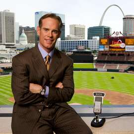 Fox Sports broadcaster Joe Buck poses for a portrait on May 14, 2009 at Busch Stadium in St. Louis, Missouri.  (Photo by Dilip Vishwanat/Getty Images)