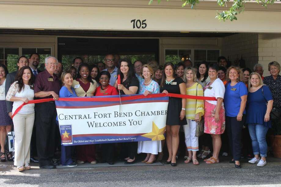 Staff of the Central Fort Bend Chamber of Commerce stand with the staff of Richmond Health Care Center at Thursday's ribbon cutting. The chamber recently welcomed Richmond Health Care Center as its newest member.