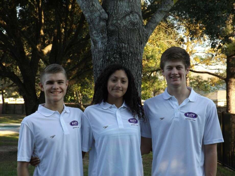 Braydon Rudd, Aria Bernal and Glen Cowand represented Katy Aquatics Swim Team at the Speedo Junior National Championships, Dec. 9-12 in Austin. Cowand made two national finals, while Bernal took 12th in the 100-yard backstroke and Rudd set personal bests in every event. Photo: Submitted Photo
