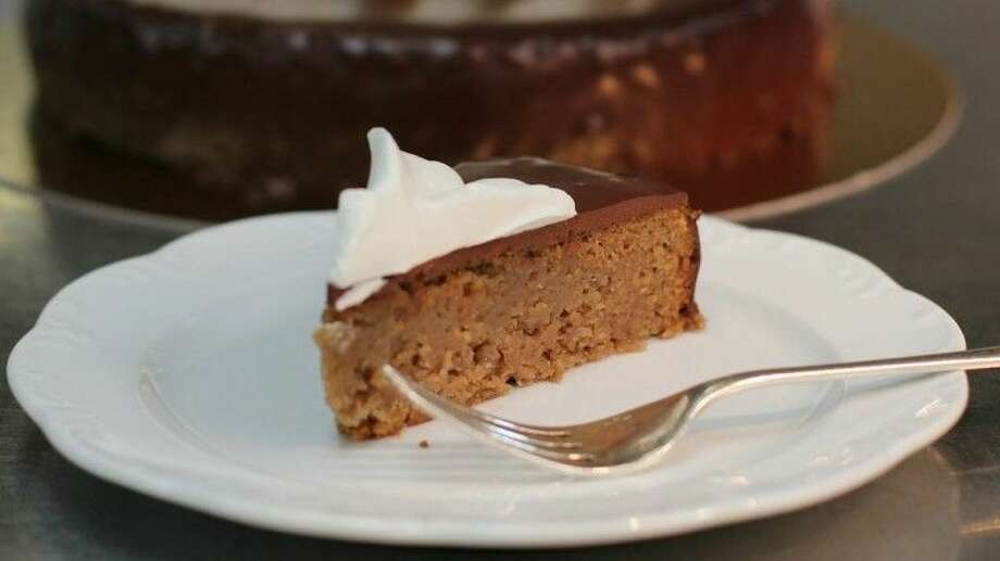 A seasonal and beautiful creation, a Chestnut Cake with Chocolate Glaze. Uber talented Pastry Chef Catherine Rodriguez at The Houstonian is the author of this recipe.