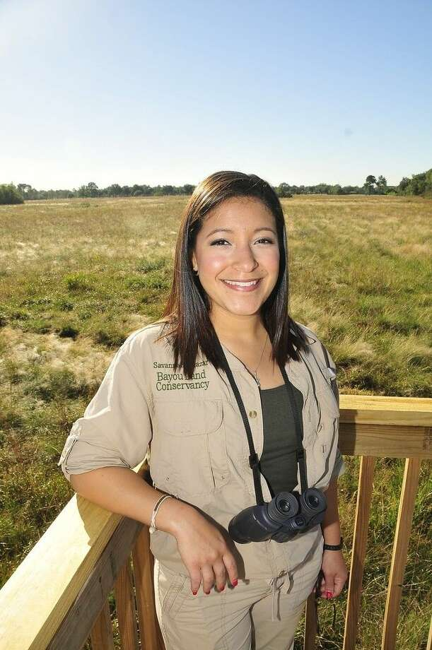 Savannah Salazar was recently hired as the first Lawther - Deer Park Prairie educator with the Bayou Land Conservancy. She found her passion for teaching during her time as a San Jacinto College student. Photo credit: Jeannie Peng-Armao, San Jacinto College marketing, public relations, and government affairs department.