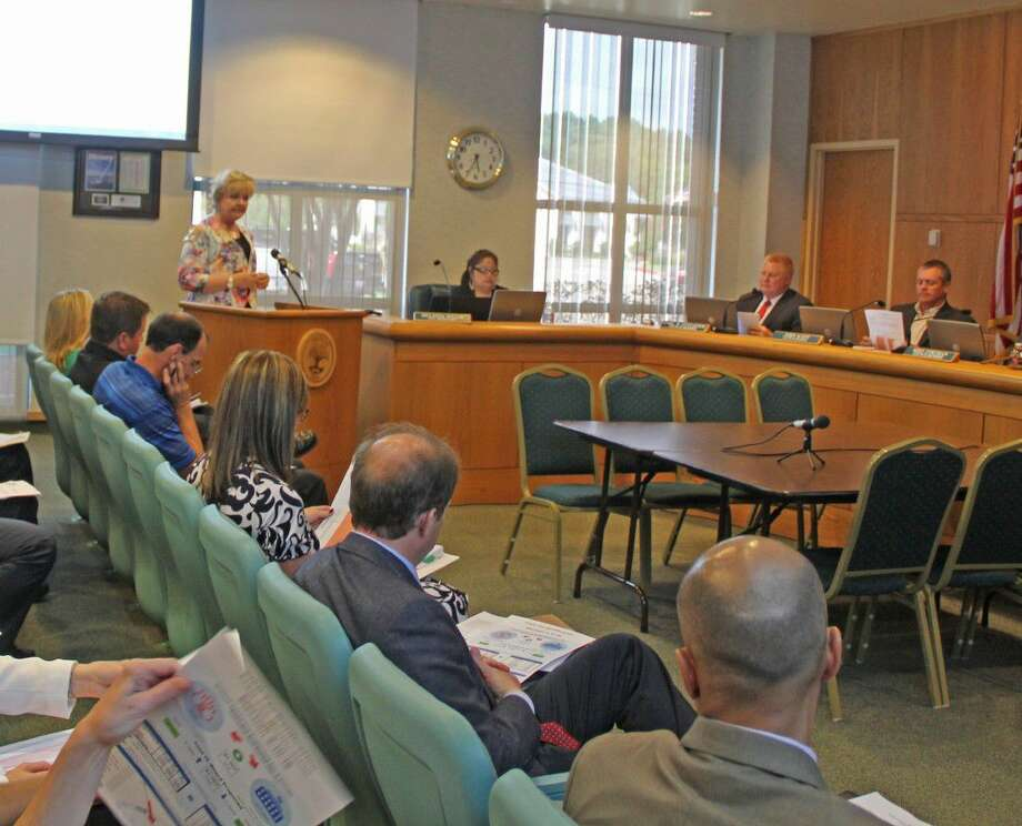 Trish Hanks, superintendent of Friendswood ISD, spoke before the Friendswood City Council Monday (July 11). Photo: Kristi Nix