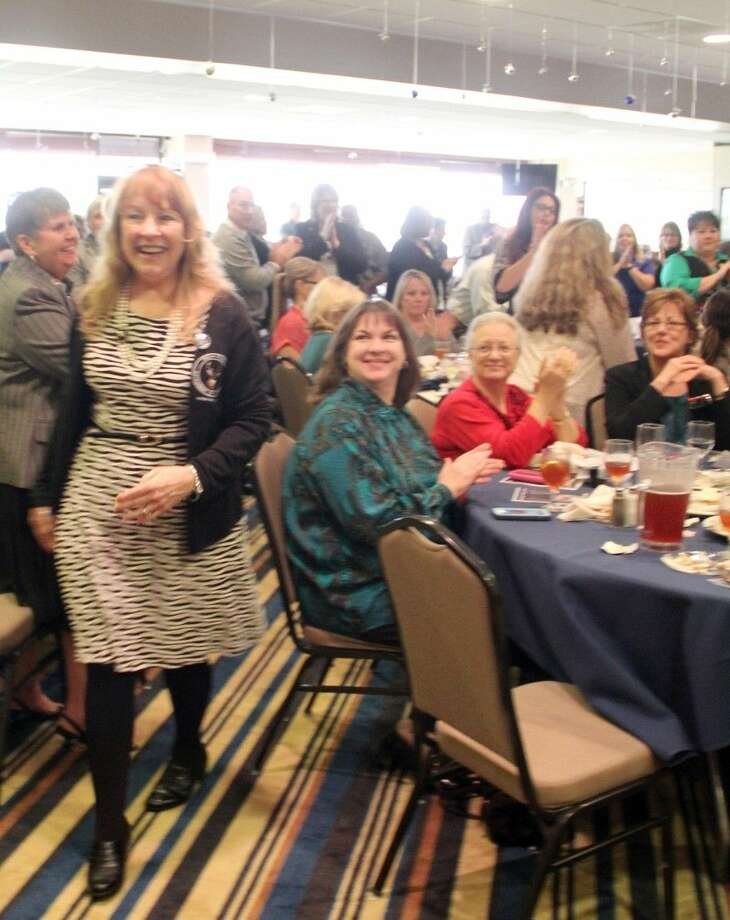 Donna Wallace of Deer Park ISD was named the Ambassador of the Year at the Deer Park Chamber of Commerce 2014 Awards Luncheon. Photo: Kristi Nix